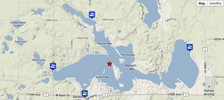 Fishing In Balsam Lake Polk County WI - Map of northern wisconsin lakes